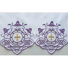 Obrus ołtarzowy haftowany - wzór eucharystyczny (200)