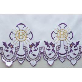 Obrus ołtarzowy haftowany - wzór eucharystyczny (201)