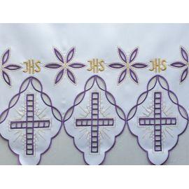 Obrus ołtarzowy haftowany - wzór eucharystyczny (202)