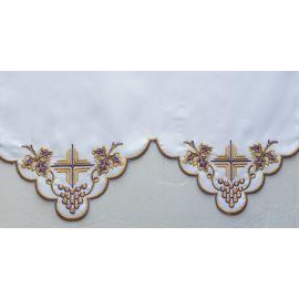 Obrus ołtarzowy haftowany - wzór eucharystyczny (204)