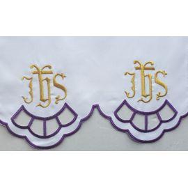 Obrus ołtarzowy haftowany - wzór eucharystyczny (205)
