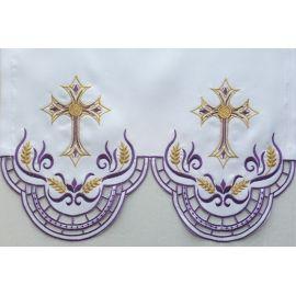Obrus ołtarzowy haftowany - wzór eucharystyczny (206)