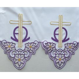 Obrus ołtarzowy haftowany - wzór eucharystyczny (208)