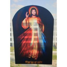 Witraż magnetyczny - Jezu Ufam Tobie