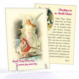 Anioł Stróż - Ikona z modlitwą format A5 (1)