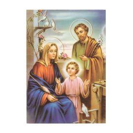 Święta Rodzina - Ikona dwustronna z modlitwą format A5