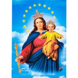 Matka Boża Wspomożycielka Wiernych - Ikona dwustronna z modlitwą format A5