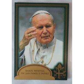 Święty Jan Paweł II Papież - Ikona dwustronna z modlitwą format A5