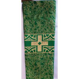Stuła kapłańska zielona w złote wzory nr 31