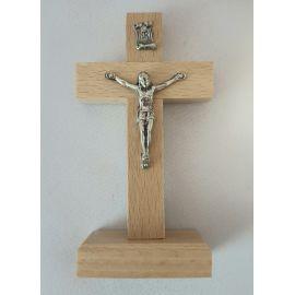 Krzyżyk drewniany stojący jasny brąz 10x5 cm