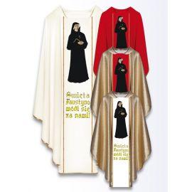 Ornat z wizerunkiem św. Faustyny