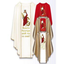 Ornat z wizerunkiem św. Katarzyny