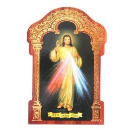 Obrazek HDF ze złotą ramką Jezu Ufam Tobie