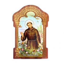 Obrazek HDF ze złotą ramką Święty Franciszek