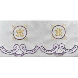 Obrus ołtarzowy haftowany - wzór eucharystyczny (209)