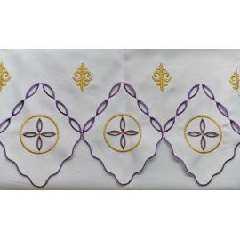 Obrus ołtarzowy haftowany - wzór eucharystyczny (212)