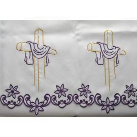 Obrus ołtarzowy haftowany - wzór eucharystyczny (213)