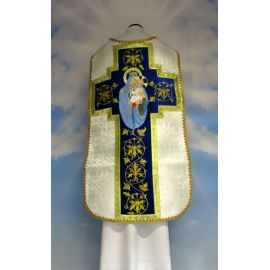 Ornat rzymski haftowany Matka Boża Szkaplerzna