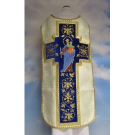 Ornat rzymski haftowany Matka Boża Wspomożenie Wiernych