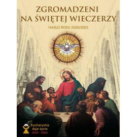 """Baner Zgromadzeni na świętej wieczerzy"""" 75 x 100 cm"""