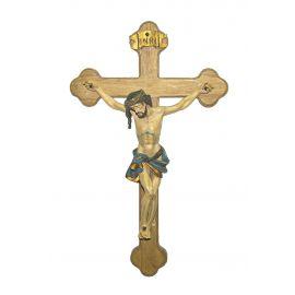 Krzyż drewniany 18x11 cm - pasyjka z masy żywicznej