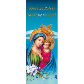"""Baner Matka Boża z Dzieciątkiem Jezus """"Królowo Polski.."""""""
