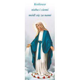 """Baner Matka Boża Niepokalana """"Królowo nieba i ziemi módl się.."""""""