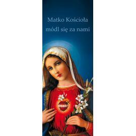 """Baner Najświętsze Serce Maryi """"Matko Kościoła módl się za nami"""""""