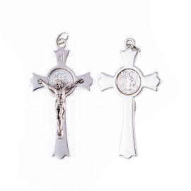 Krzyżyk - św. Benedykt (kolor srebrny)