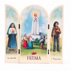 Tryptyk drewniany Fatima