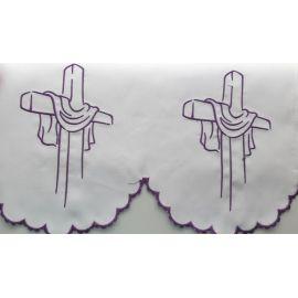 Obrus ołtarzowy haftowany - wzór eucharystyczny (217)
