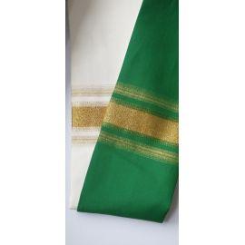 Stuła dwustronna kapłańska (ecru-zielony)