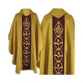 Ornat gotycki złoty haftowany - tkanina brokatowa (44)