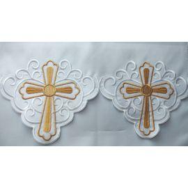 Obrus ołtarzowy haftowany - wzór eucharystyczny (145)