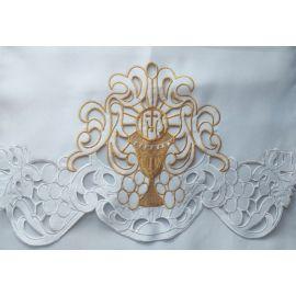 Obrus ołtarzowy haftowany - wzór eucharystyczny (218)