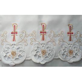 Obrus ołtarzowy haftowany - wzór eucharystyczny (220)