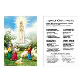 Obrazek Dwustronny - Tajemnice Różańca Świętego