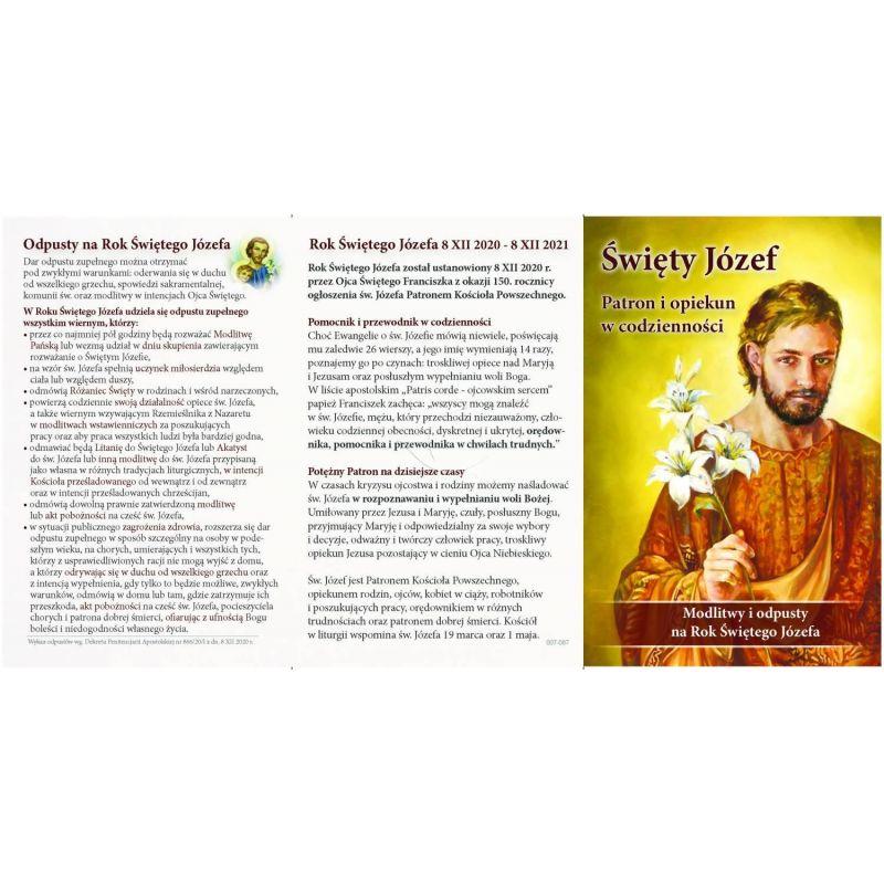 Folderek - Modlitwy do Świętego Józefa