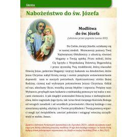 Nabożeństwo do Świętego Józefa - format A5