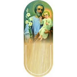 Święty Józef - Zakładka półokrągła syntetyczna (3)