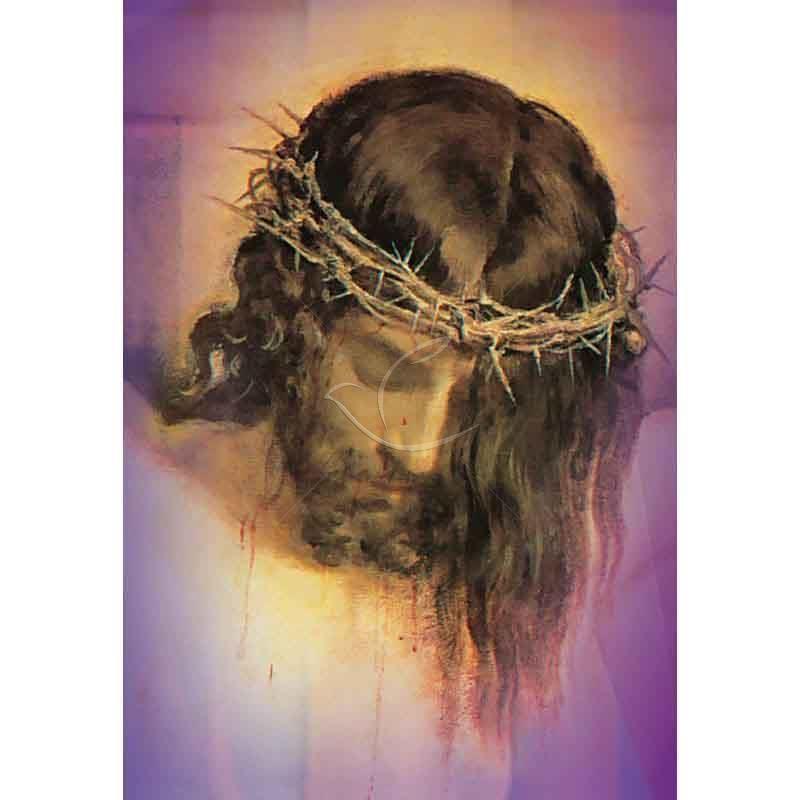 Plakat Wielkanocny - Jezus w koronie cierniowej
