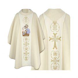 Ornat haftowany z wizerunkiem Świętego Józefa (4)