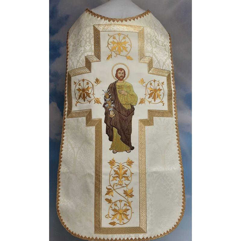 Ornat rzymski haftowany z wizerunkiem Świętego Józefa (7)