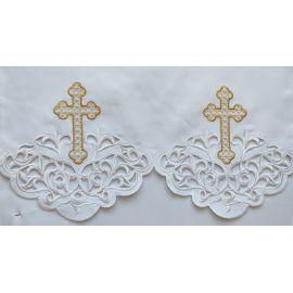 Obrus ołtarzowy haftowany - wzór eucharystyczny (111)