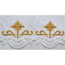 Obrus ołtarzowy haftowany - wzór eucharystyczny (107)