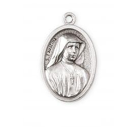 Medalik metalowy Święta Faustyna