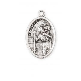 Medalik metalowy Święty Krzysztof