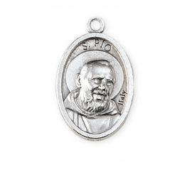 Medalik metalowy święty o. Pio