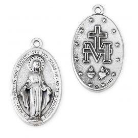 Medalik metalowy Matka Boża Niepokalana 4 cm