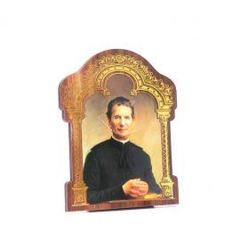 Święty Jan Bosko - Obrazek HDF ze złotą ramką